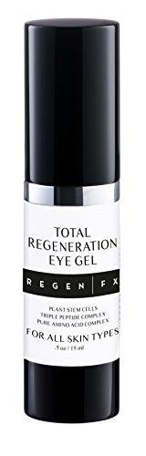 RegenFX Total Regeneration Eye Gel for Dark Circles, Puffy Eyes, Wrinkles & Crows Feet, 15 ml