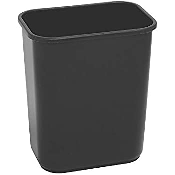 Highmark Office Depot Wastebasket, 7 Gallons, 14 1/2in.H x 10 1/2in.W x 15 1/4in.D, Black, WB0189