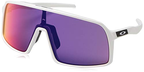 Oakley Men's OO9406 Sutro Shield Sunglasses, Matte White/Prizm Road, 37 ()