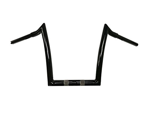 Dominator Industries 1 1/4 Inch Road Glide Meathook Ape Hanger Handlebars, 13 Inch Rise, Gloss Black for 2015-2018 Road Glides
