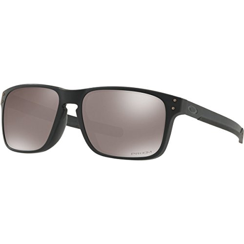 Oakley Men's Holbrook Mix (a) Polarized Iridium Rectangular Sunglasses, Matte Black, 57.0 - Oakley Hollbrooks