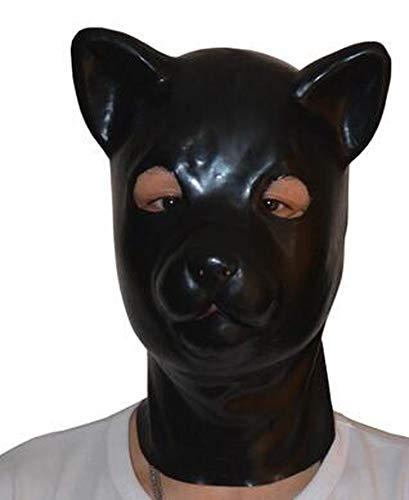 Enjoy Love (LS06) Fetish Latex Full Head Latex Pig Dog cat Leopard Wolf Horse Animal Head Slave mask Rubber Hood SM Hood suffocate Mask,Cat,M