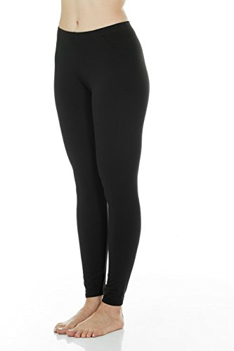 Thermajane Women's Ultra Soft Thermal Pants Bottoms (Black, Large) ()