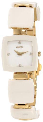 Roamer of Switzerland Women's 672953 98 29 60 Dreamline White Ceramic Gold PVD Diamond Watch