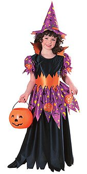 halloween costume girls enchanted witch lg age 8 10