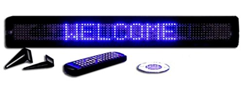 One Line Semi-Outdoor Blue LED Programmable Display