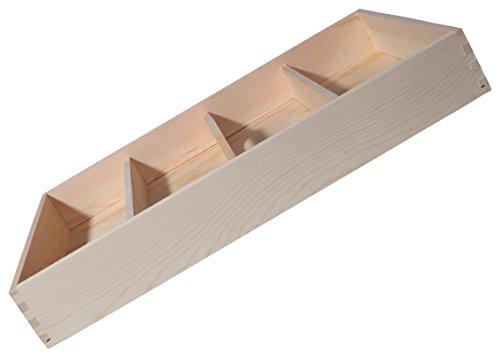 Drawer organizer wooden drawer organizer large wooden for Vertical silverware organizer
