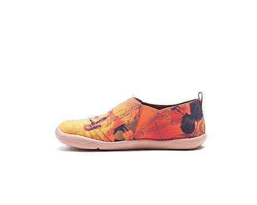 UIN Golden Oldies Chaussures bateaux de toiles comfortable jaune pour femme