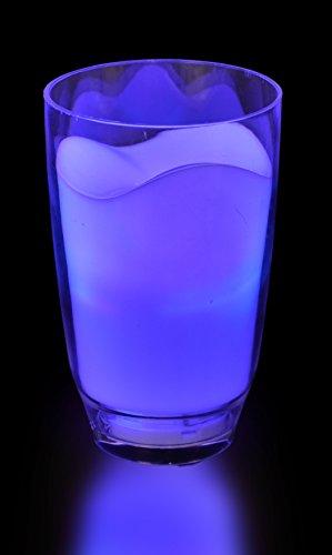 LED Glas Deko Leuchtbecher Milchglas bunt mit Farbwechsel, Stimmungsleuchte, Stimmungslicht, Tischlicht, Tischleuchte