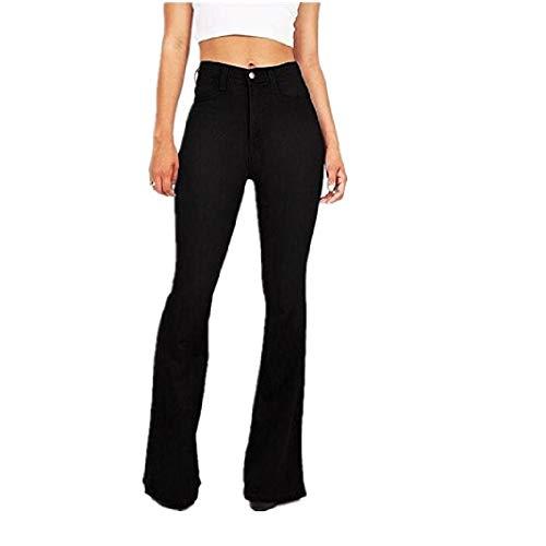 Femme pour Taille Noir FuweiEncore Haute Jeans gqAgCSwF