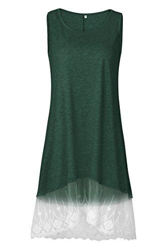 Balancé Vert Robe Décontractée Décolleté Alaix Femmes Décontracté Pour De shirt T 1Wv8q