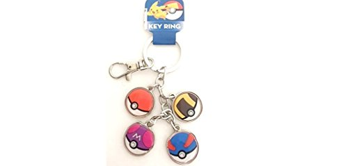 Multi Charm Keychain - Pokemon Pokeball Multi Charm Keychain
