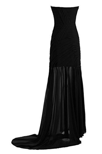 ivyd ressing Mujer Fácil funda de línea de corazón Recorte Prom vestido fijo para vestido de noche negro
