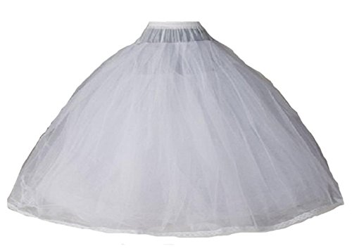 Quinceanera New Gown (Dearta Women's 8 Layers Tulle Ball Gowns Dresses Petticoats with No Rings)