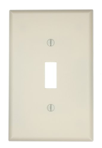 Leviton 80501 T 1 Gang Wallplate Thermoset