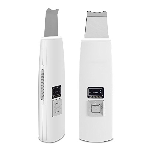 ShakeLady Ultrasonic Ion Skin Scrubber Facial Cleaser Spatula Gentle Peel Dermabrasion Microdermabrasion Exfoliation Blackhead Acne Pore Removal Rechargeable Face Care Massager