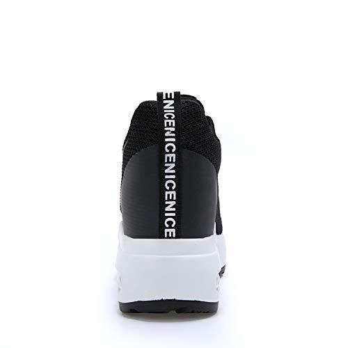 Sneakers Donna Interna 8 Con Casuale Scarpe Nero Aonegold Cm Ginnastica  Tacco Da Zeppa Sportive BZqdBI 0d9ccedfb97
