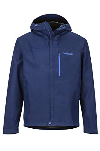 Marmot Minimalist Men's Lightweight Waterproof Rain Jacket, Gore-TEX with Paclite Technology, Arctic Navy, Large