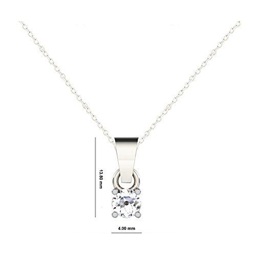 Libertini Pendentif argent 925 serti de Diamant en forme de Rond