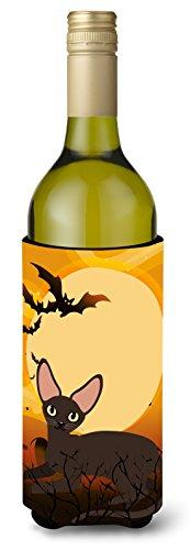 Caroline's Treasures Halloween Peter bald Cat Wine Bottle Beverage Insulator Hugger, 750 ml, Multicolor -