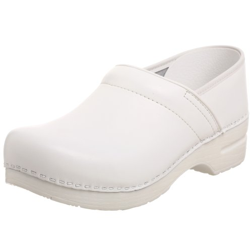 Dansko Women's Professional Box Leather Clog,White,43 EU (9.5-10 M US) by Dansko