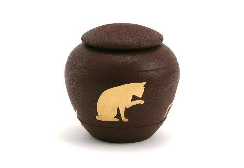 Near & Dear Pet Memorials Silhouette Cat Urn, Sienna