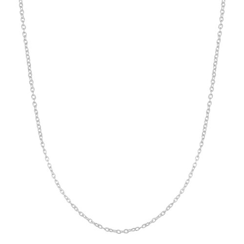 Sterling Silver 1.2mm Round Cable Chain (20 inch)