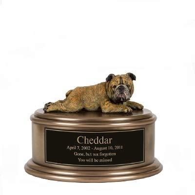 Perfect Memorials Custom Engraved English Bulldog Figurine Cremation Urn by Perfect Memorials (Image #1)