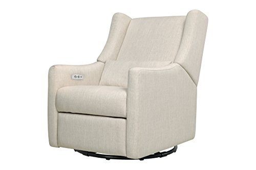 Cheap Babyletto Kiwi Electronic Recliner and Swivel Glider with USB Port, White Linen