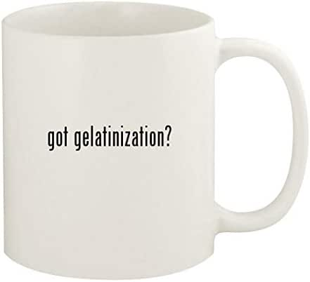 got gelatinization? - 11oz Ceramic White Coffee Mug Cup, White