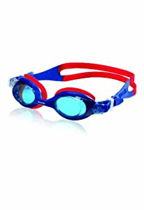 Speedo Aqua League Swim Goggle, Navy/Red