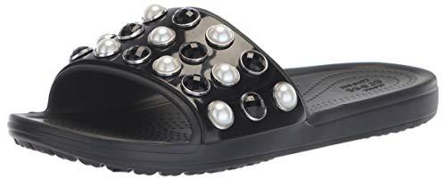Timeless Pearl Slide Sandal, Black 8 M US ()