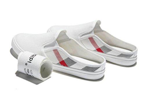 SHFANG Señora Zapatos Pequeños zapatos blancos Vacaciones Ocio Lienzo Zapatillas Estudiantes Compras Cómodo Blanco Negro White