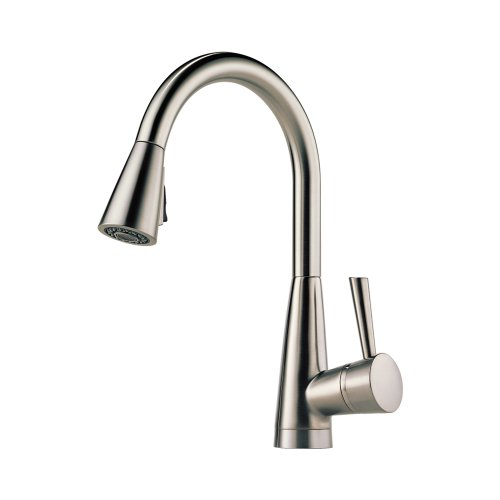 Brizo 63070LF-SS Venuto Kitchen Faucet Single Handle Deck Mount Pull-Down Spray with Magnedock Technology, Stainless (Venuto Kitchen)