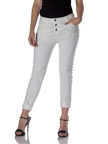 Please, Jeans donna P78A baggy Bianco