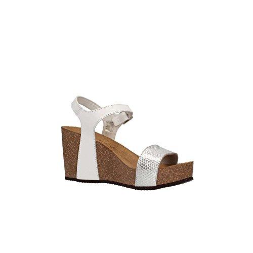 Grunland SB0390 CEKE Sandalo Donna P./S. Bianco-argento mijuCoIFVH