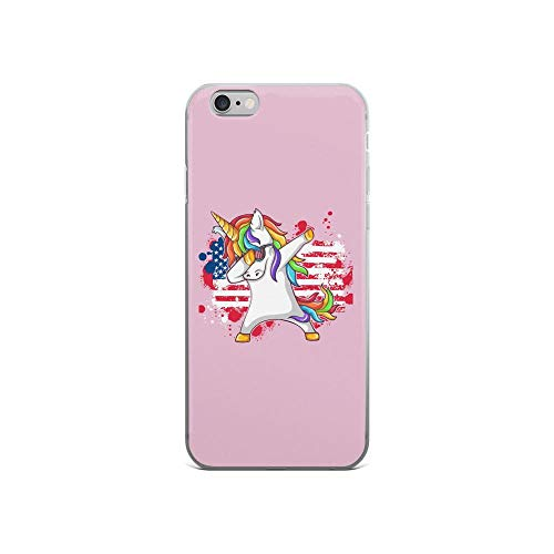iPhone 6/6s Pure Clear Case Cases Cover Dab Unicorn and U.s Flag