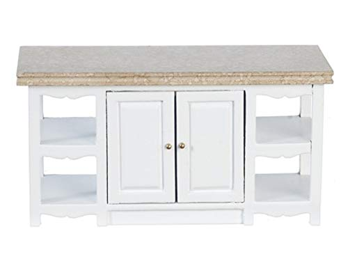Melody Jane Dollhouse White Kitchen Island Unit Miniature 1:12 Scale Furniture
