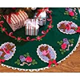 "Ballet Bears Tree Skirt Felt Applique Kit: 42"" Round"