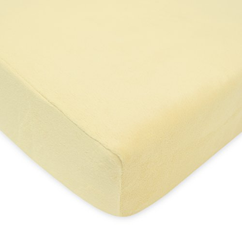 American Baby Company Heavenly Soft Chenille Fitted Crib Sheet for Standard Crib and Toddler Mattresses, Maize