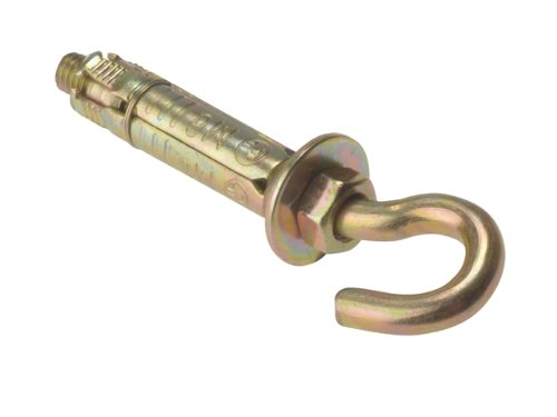 Forgefix HOOK8M - Confezione da 10 viti a gancio, con zincatura passivata, colore: Giallo HOOK8B