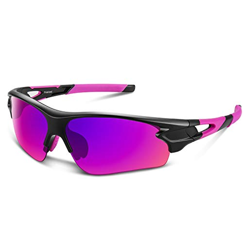 Polarized Sports Sunglasses for Men Women Youth Baseball Fishing Cycling Running Golf Motorcycle Tac Glasses ()
