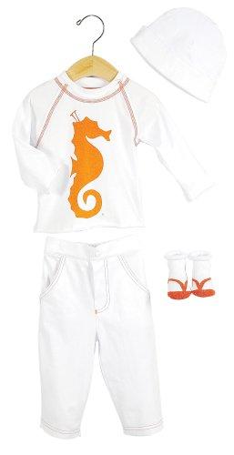 Elegant Baby Tropical Fashion Set- 6 mos- Sea Horse