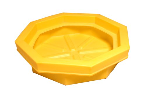 (UltraTech 1045 Polyethylene Ultra-Drum Tray Without Grate, 22.8 Gallon Capacity, 5 Year Warranty, Yellow)