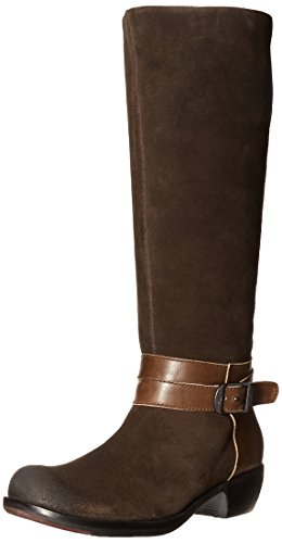 (FLY London Women's Meek735fly Riding Boot, Expresso/Tan Oil Suede/Sebta, 40 EU/9-9.5 M US)