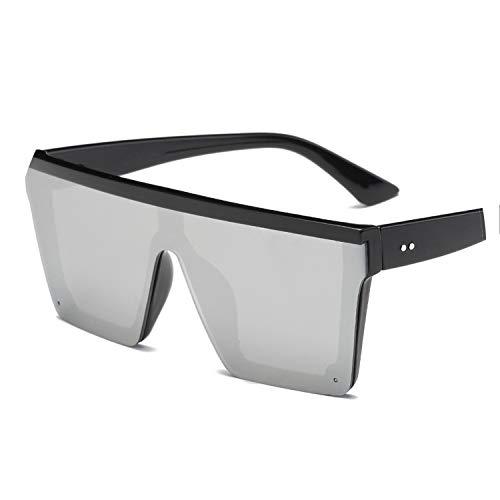 Male Flat Top Sunglasses Men Brand Black Square Shades UV400 Gradient Sun Glasses For Men ()