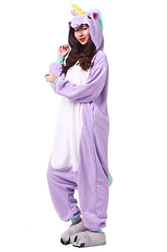 Mono Unisex de animal Cosplay Adulto Unicornio Traje morado Pijama atq6Yaz