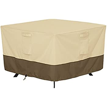 Classic Accessories Veranda Square Patio Table Cover   Durable And Water  Resistant Patio Furniture Cover,
