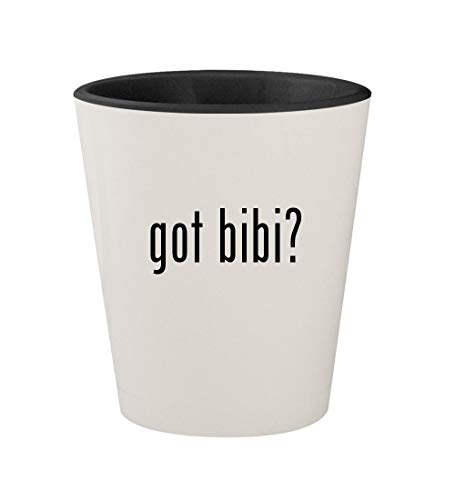 - got bibi? - Ceramic White Outer & Black Inner 1.5oz Shot Glass