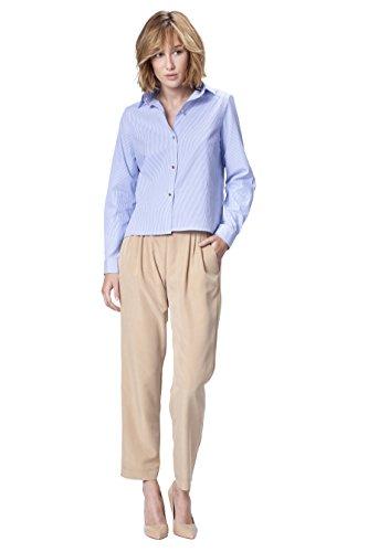 POETE Lio, Pantalones para Mujer Beige